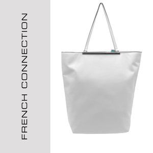 French Connection Faux Leather Tote